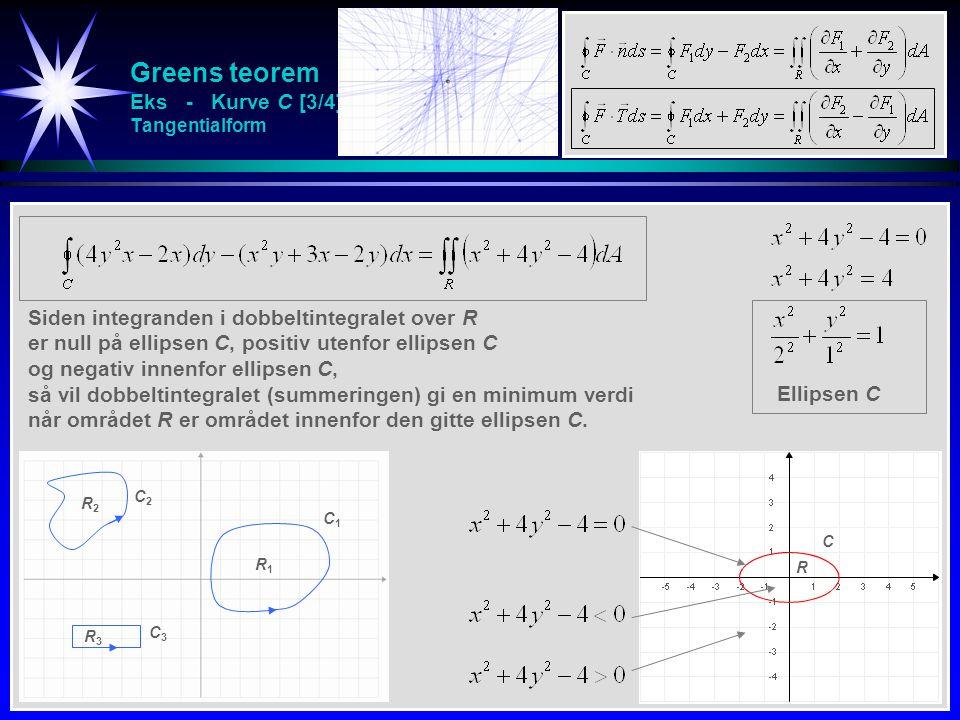 Greens teorem Eks - Kurve C [3/4] Tangentialform